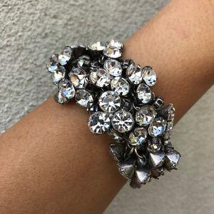 J. Crew Crystal Cluster Bracelet